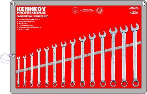 KENNEDY Sada profesionální očkoplochých klíčů 6 - 19mm