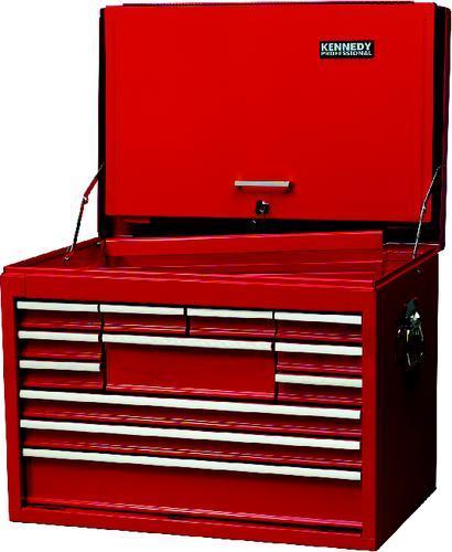 KENNEDY Box na nářadí přenosný s 12 extra hlubokými zásuvkami 670 x 445 x 490 mm