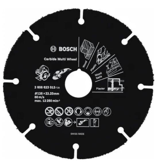 BOSCH 2608623013 Multi Wheel 125 x 22,2 x 1 mm