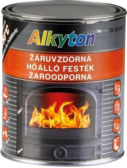 RUST-OLEUM Alkyton žáruvzdorná vypalovací kovářská černá barva 0,75L