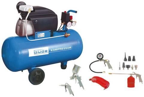 GÜDE 300/10/50 DG olejový kompresor + sada příslušenství
