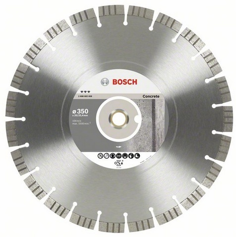 BOSCH diamantový kotouč 350x20/25,4 Best for Concrete 2608602658