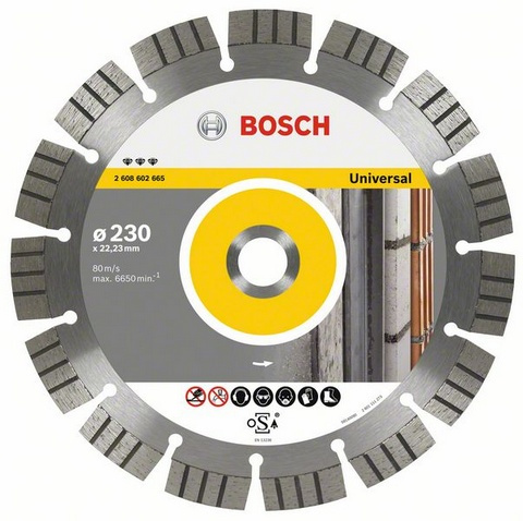 BOSCH diamantový kotouč 230 Best for Universal/Metal 2608602665