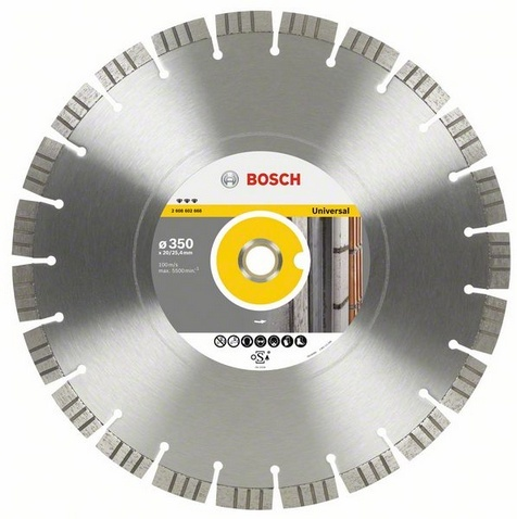 BOSCH diamantový kotouč 350x20/25,4 Best for Universal/Metal 2608602668