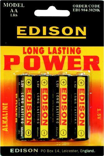 EDISON Baterie alkalické AA 1,5 V / 4 ks