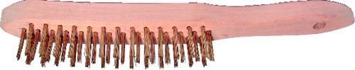KENNEDY Ocelový kartáč 3 řadý, štětiny mosaz