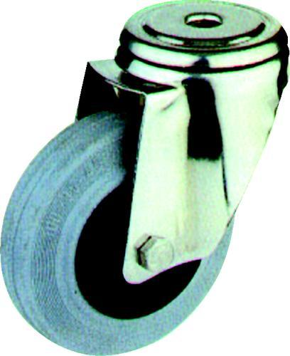 ATLAS Kolečka pojezdová z šedé pryže - otočný typ s horní deskou 100 mm