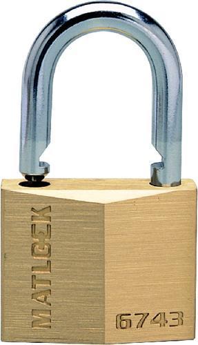 MATLOCK Visací zámek mosazný s kaleným třmenem 20 mm