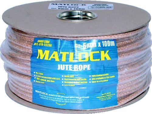 MATLOCK CHANDLERY Lano jutové 6 mm x 100 m