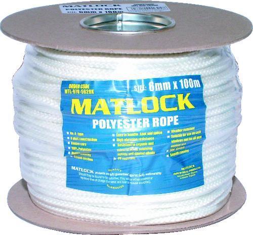 MATLOCK CHANDLERY Lano polyesterové 6 mm x 100 m