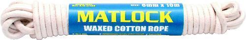 MATLOCK CHANDLERY Lano bavlněné voskované 6 mm x 10 m