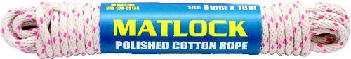 MATLOCK CHANDLERY Lano bavlněné hladké 6 mm x 10 m