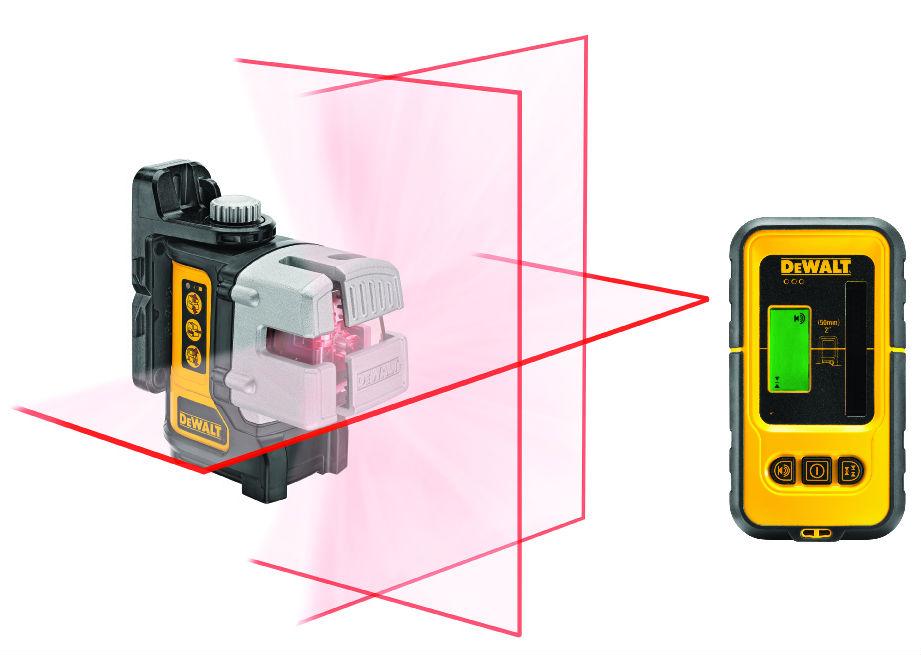 Dewalt DW089KD křížový laser s přijímačem