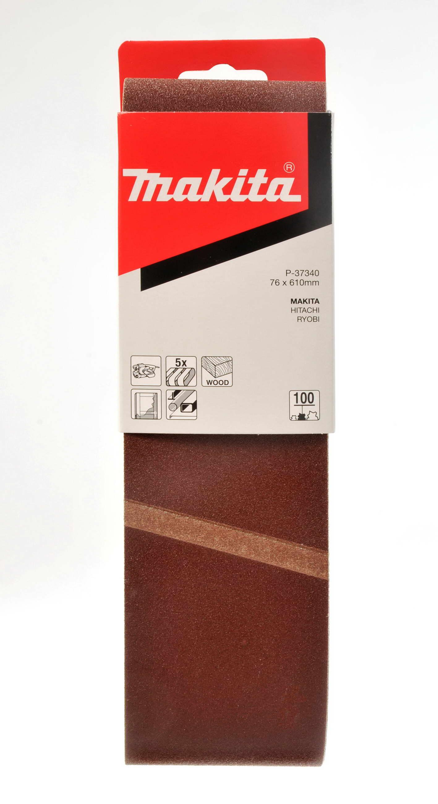 Makita P-37356 brus.pásy76x610mmK120 5ks=old P-00290