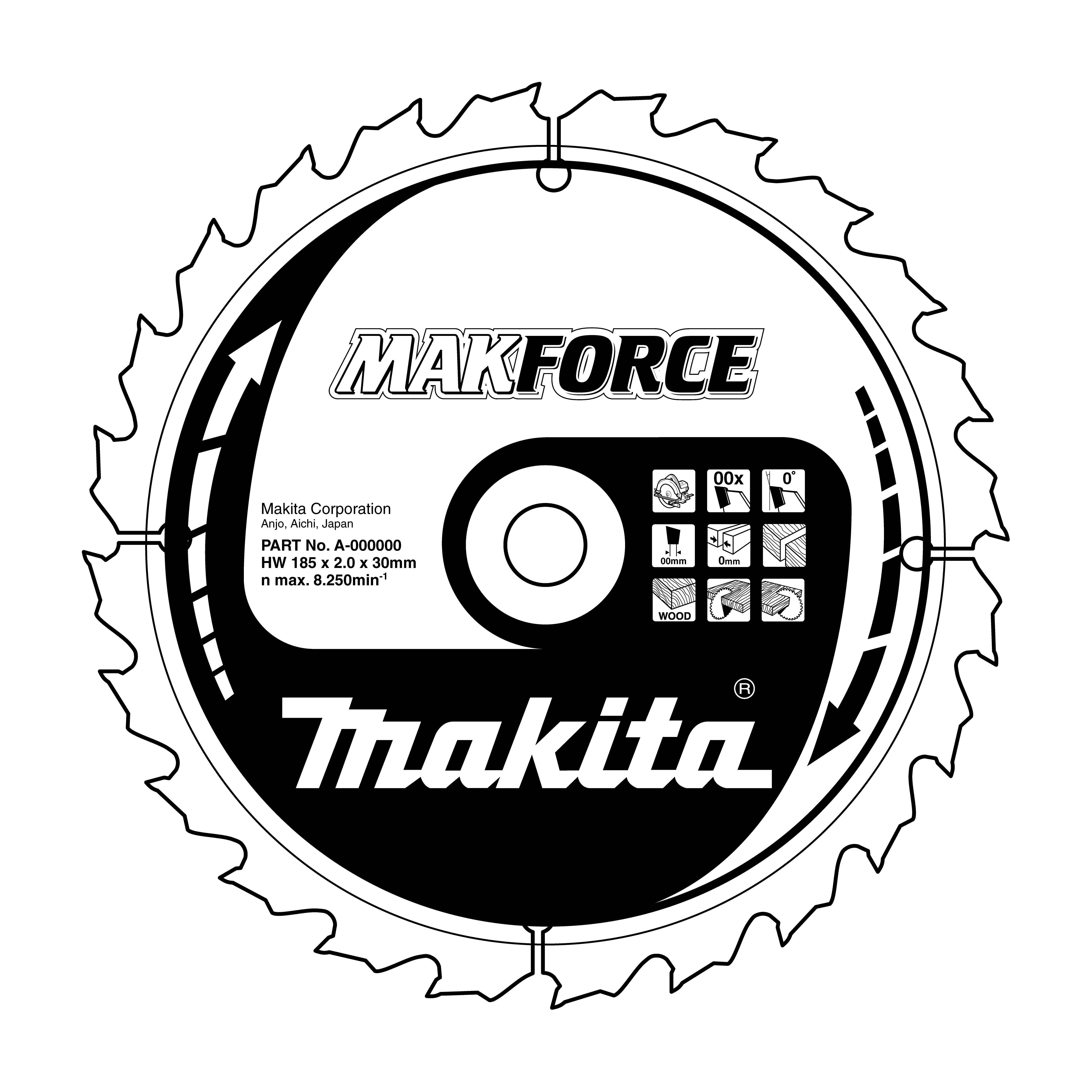 Makita B-08545 pilový kotouč 355x30mm 60T