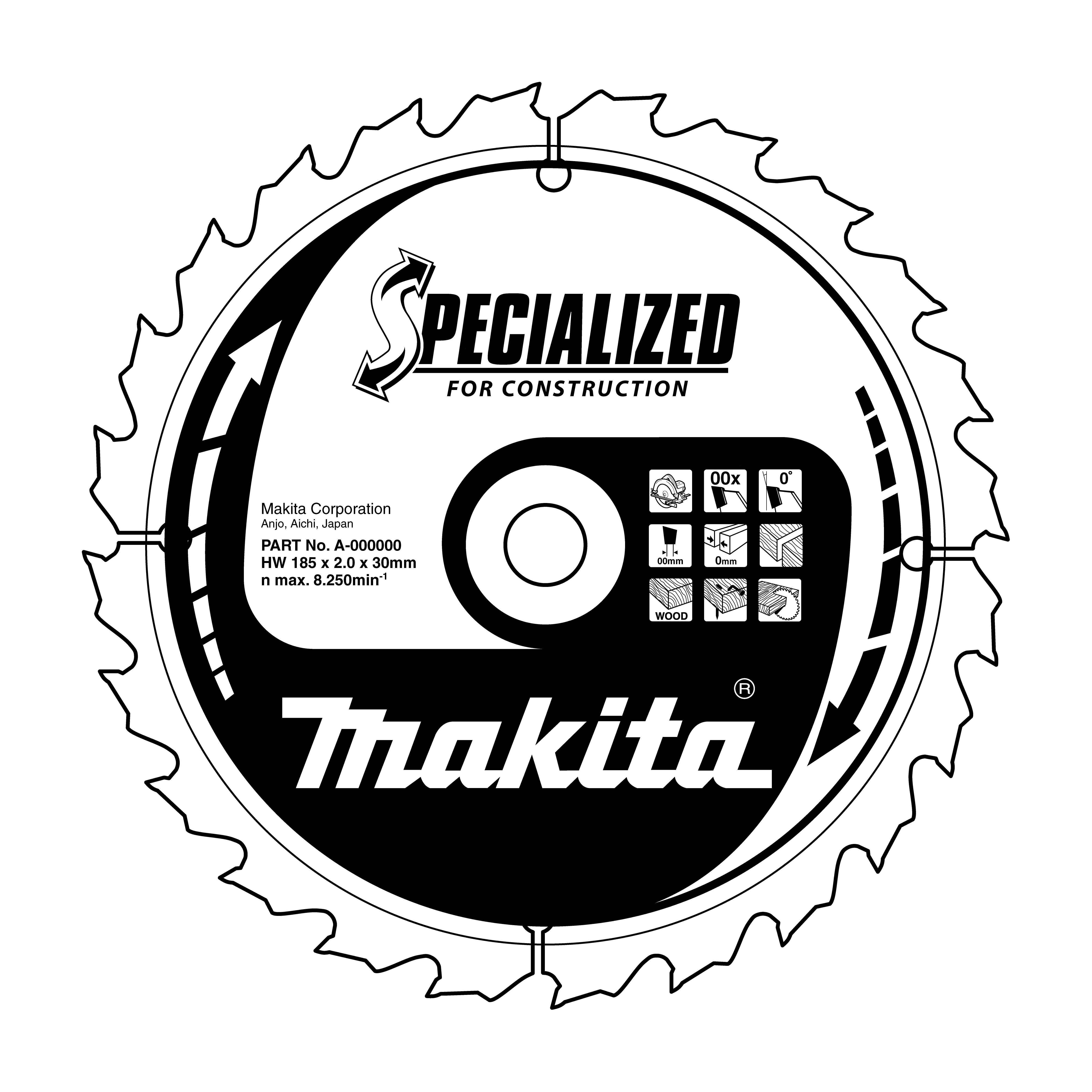 Makita B-13683 pilový kotouč Konstrukt 190x30 12T