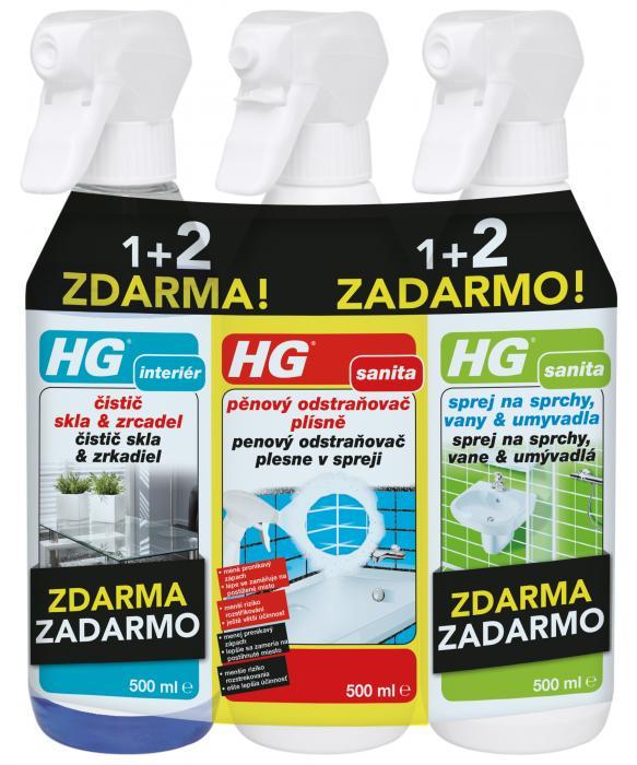 HG set 3 čistících přípravků za zvýhodněnou cenu