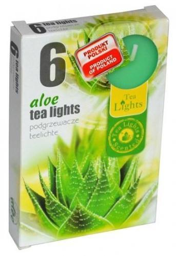 Z-Trade Vonné čajové svíčky, 6 ks, Aloe (aloe)