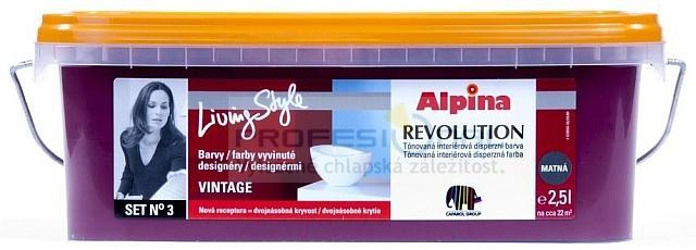 Caparol Alpina LivingStyle 2,5L tónovaná vysoce kvalitní disperzní barva pro interiér