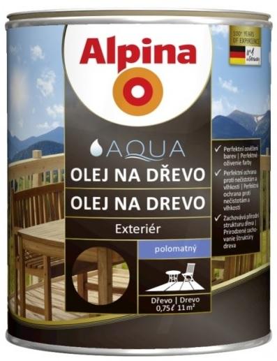 Alpina Olej na dřevo 0,75L tmavý