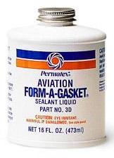 Permatex Netvrdnoucí těsnivo 473ml letecké - Form-A-Gasket No3 Sealant AVIATION