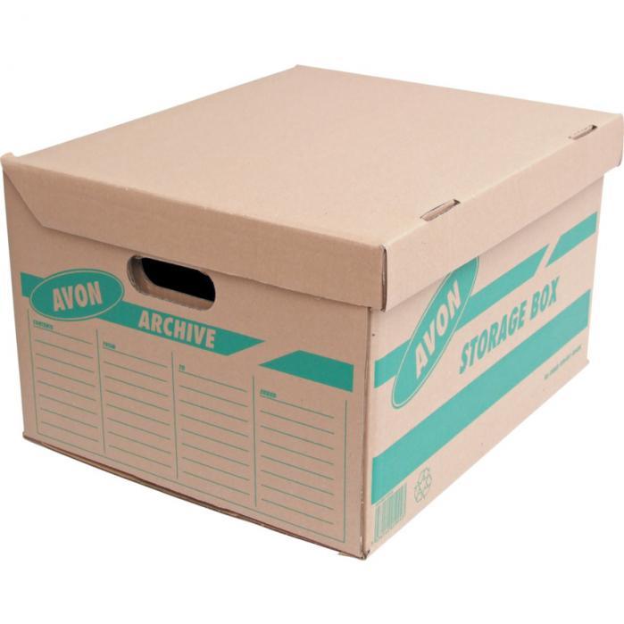 AVON Krabice archivní hnědá 430 x 360 x 257mm balení 10 ks