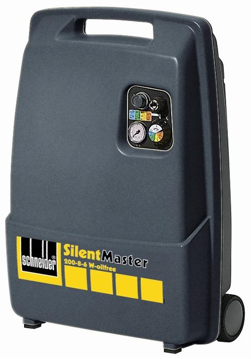 SCHNEIDER SEM 200-8-6 W bezolej SilentMaster pojízdný kompresor A333003