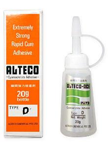 ALTECO Super Glue D 12 g s kapátkem box, průmyslové vteřinové lepidlo na těžce slepitelné plasty a kovy