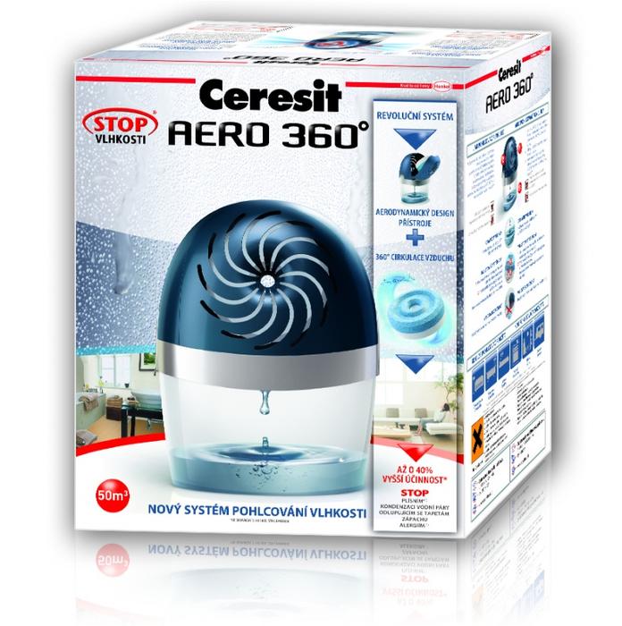 HENKEL Ceresit Stop vlhkosti AERO 360° - 450g pohlcovač vlhkosti, odvlhčovač