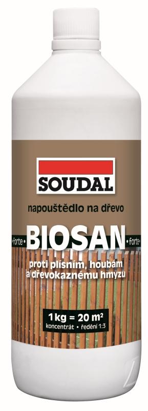 Soudal Biosan Forte 1Kg koncentrát pro ochranu dřeva proti houbám, plísním a dřevokaznému hmyzu
