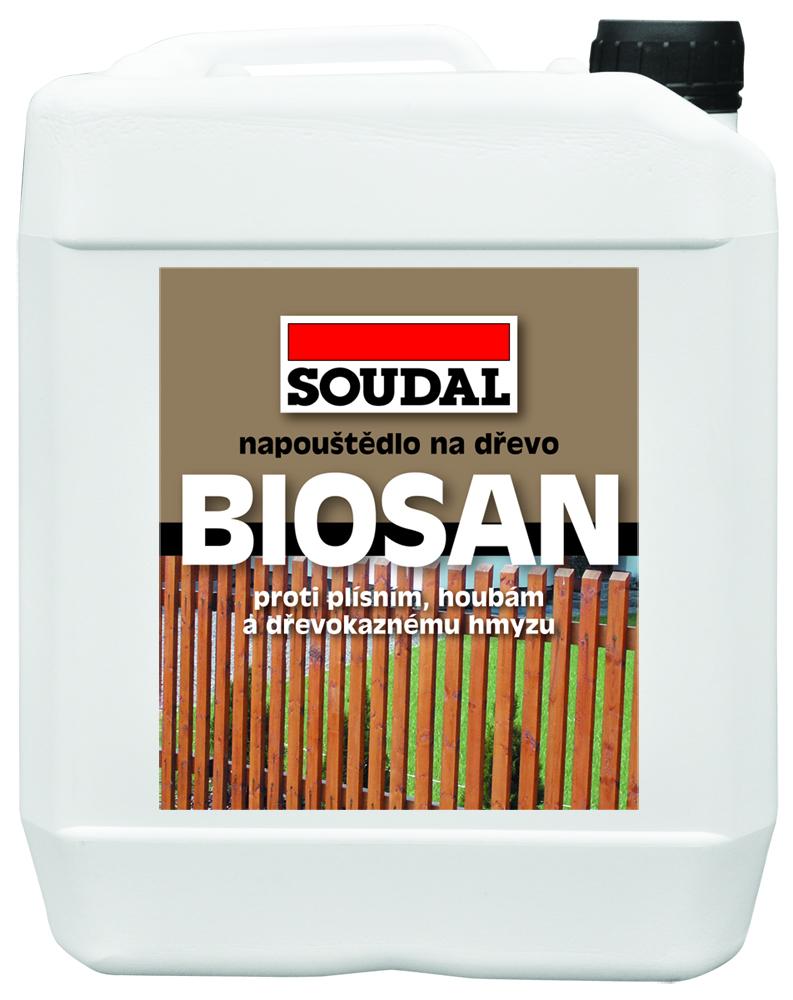 Soudal BIOSAN Ochranné napouštědlo 1Kg transparent - koncentrovaný prostředek pro ochranu dřeva