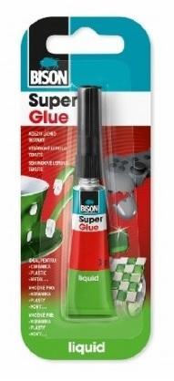 Bison Super Glue 3ml Vysoce kvalitní tekuté kyanoakrylátové lepidlo