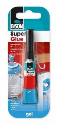 Bison Super Glue Gel 2ml blistr Vysoce kvalitní gelové kyanoakrylátové lepidlo