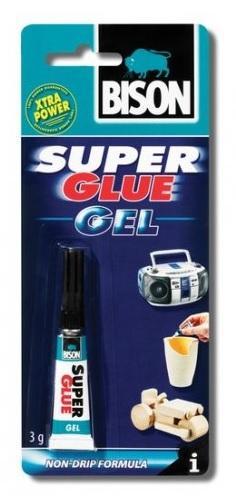 Bison Super Glue Gel 3ml Velmi univerzální kvalitní gelové kyanoakrylátové lepidlo