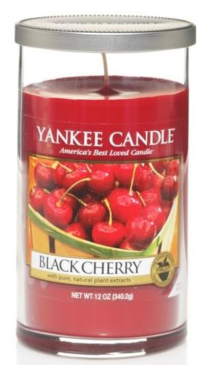 YANKEE CANDLE Black Cherry DÉCOR STŘEDNÍ Vonná Svíčka Zralé třešně