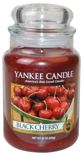 YANKEE CANDLE Black Cherry CLASSIC VELKÝ Vonná Svíčka Zralé třešně