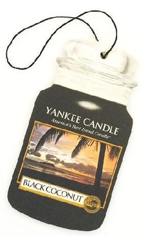 YANKEE CANDLE BLACK COCONUT VŮNĚ DO AUTA - PAPÍROVÁ AUTO VISAČKA Černý kokos