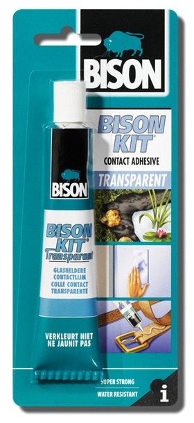 Bison Kit Transparent 50ml blistr - Kontaktní lepidlo čiré