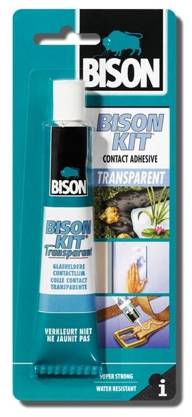 Bison Kit Transparent 50ml blistr - Kontaktní lepidlo čiré