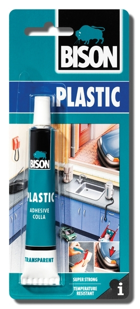 Bison Plastic 25ml blistr - Lepidlo na tvrdé plasty