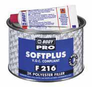 HB BODY Body softplus F 216 - 1L Dvousložkový polyesterový stěrkový tmel