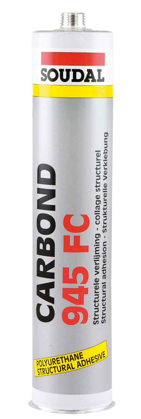 Soudal Carbond 945FC 310ml černý polyuretanový lepící tmel pro auto, strojírenství a stavbu