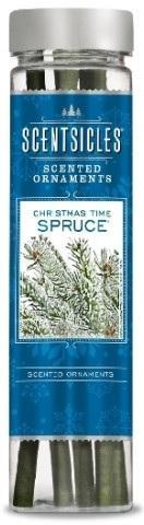 Z-Trade ScentSicles Christmas Time Spruce (vánoční smrk) 6 ks vonných klacíků v lahvičce