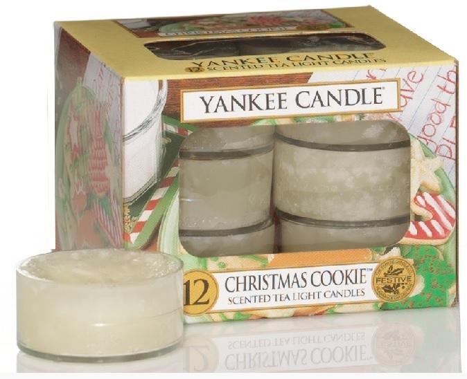 YANKEE CANDLE Christmas Cookie VONNÁ ČAJOVÁ SVÍČKA Vánoční cukroví