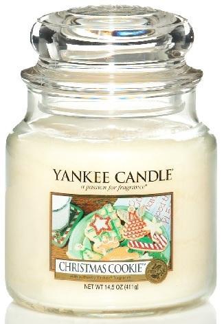 Vonná Svíčka YANKEE CANDLE Christmas Cookie CLASSIC STŘEDNÍ Vánoční cukroví