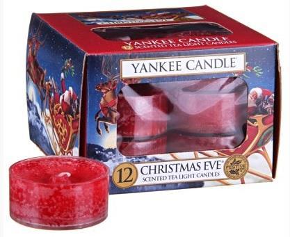 YANKEE CANDLE Christmas Eve VONNÁ ČAJOVÁ SVÍČKA Štědrý večer