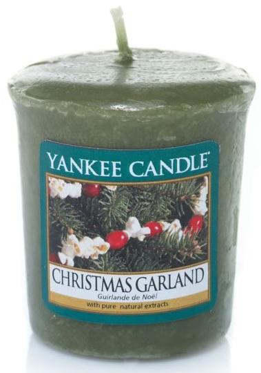 YANKEE CANDLE Vonná Svíčka Christmas Garland VOTIVNÍ Vánoční věnec