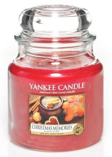 YANKEE CANDLE Vonná Svíčka Christmas Memories CLASSIC STŘEDNÍ Vánoční vzpomínky