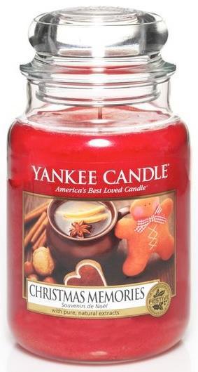 YANKEE CANDLE Vonná Svíčka Christmas Memories CLASSIC VELKÝ Vánoční vzpomínky