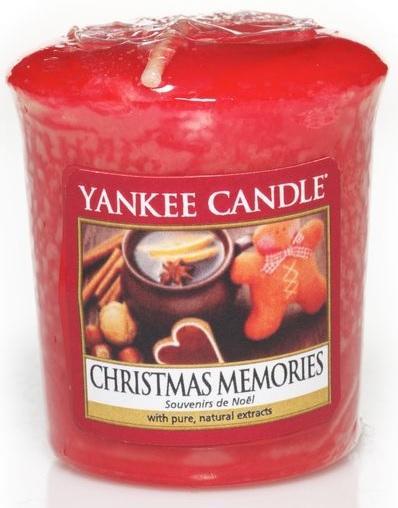 YANKEE CANDLE Vonná Svíčka Christmas Memories VOTIVNÍ Vánoční vzpomínky